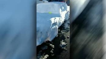 Nebraska trooper stunned to 'pull over' car made of snow
