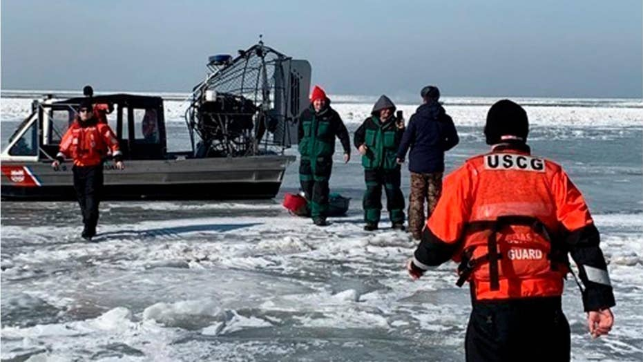 46 fishermen rescued from Lake Erie after ice floe separates from shore