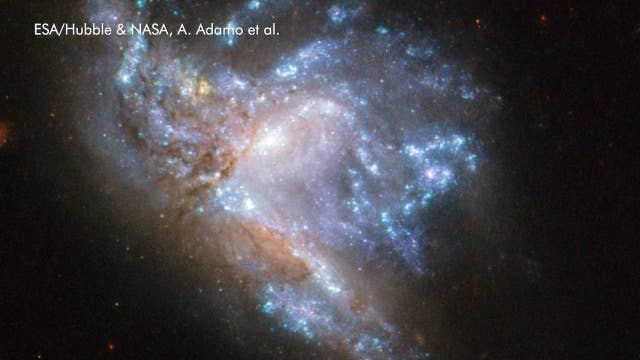 NASA's Hubble space telescope captures two colliding galaxies