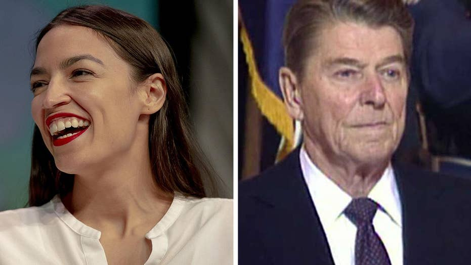AOC blasts President Reagan for 'pitting blacks and whites against each other'