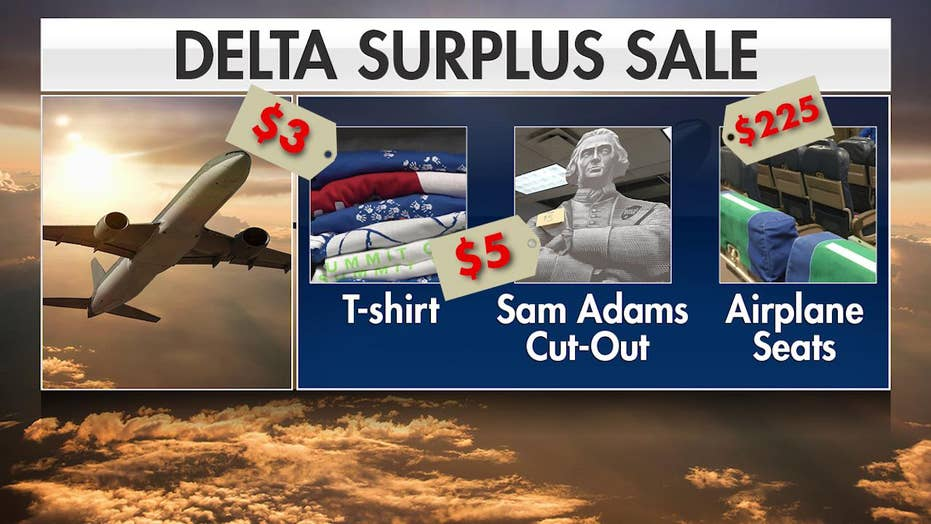 Delta garage sale attracts aviation superfans hoping to buy plane