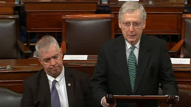 Mitch McConnell gets weepy on Senate floor saying goodbye to departing staffer