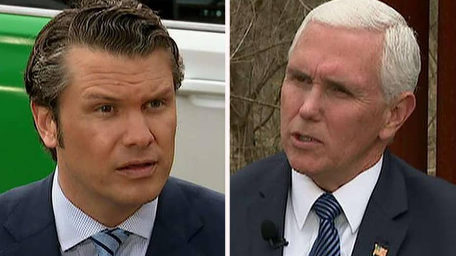 Pence to senators: Set politics aside and stand with the president on border security