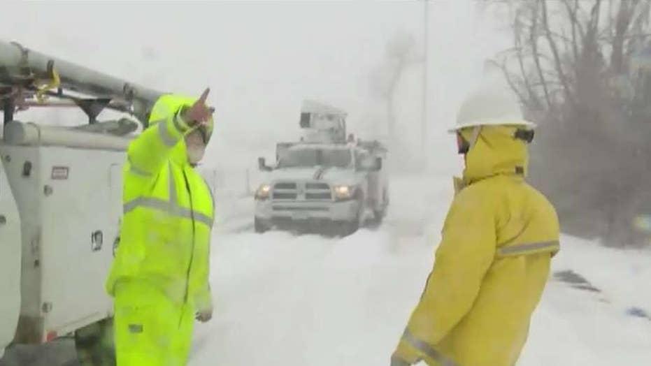 'Bomb cyclone' blizzard blasts Colorado with 96 mph winds