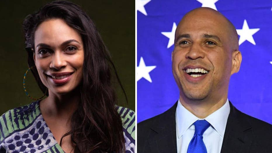 Rosario Dawson confesses to Cory Booker romance: 'He's a smashing tellurian being'