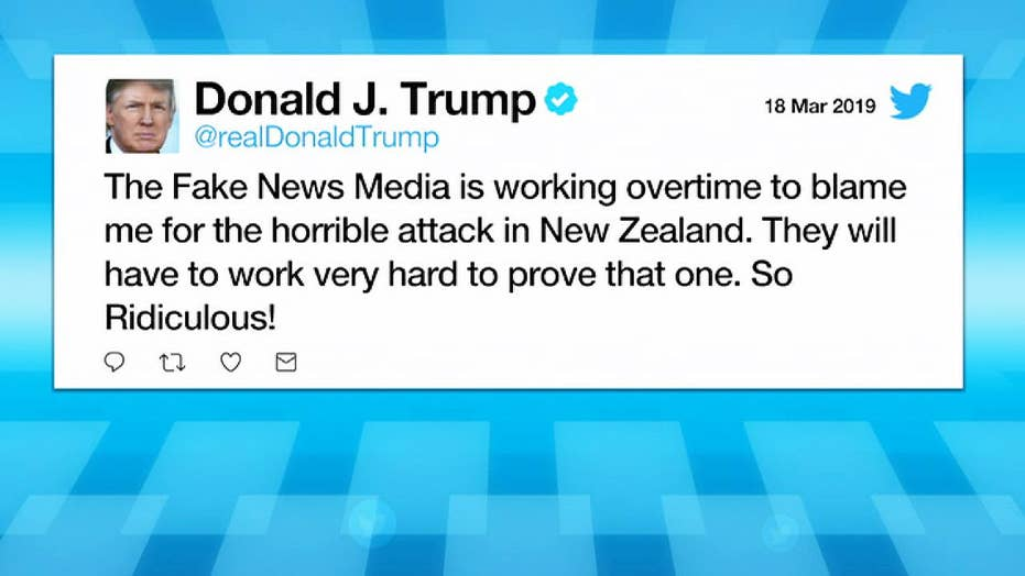 Trump slams 'fake news media' for trying connect the New Zealand killer's ideology and the president