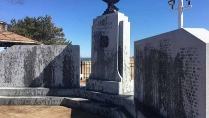 World War II memorial in Massachusetts vandalized with oil, officials say