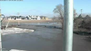 Nebraska flooding that impacted capital's water supply seen in time-lapse video