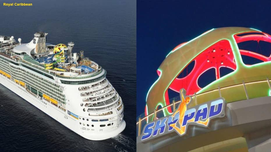 Man sues Royal Caribbean cruise line after falling from the ship's Sky Pad bungee trampoline