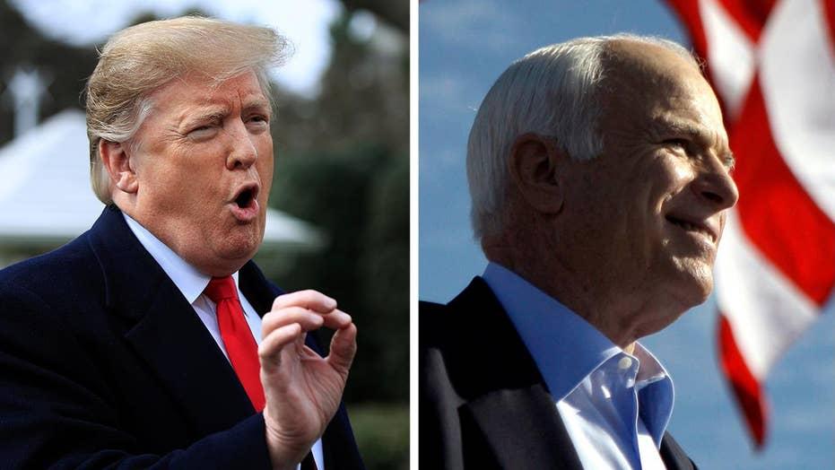 President Trump continues his feud with Sen. John McCain