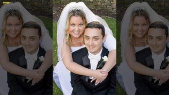 Bride has to hide her IV drip after being diagnosed with cancer just days before her wedding