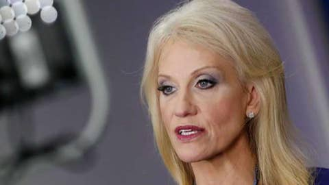 Conway stays loyal to Trump during feud with her husband