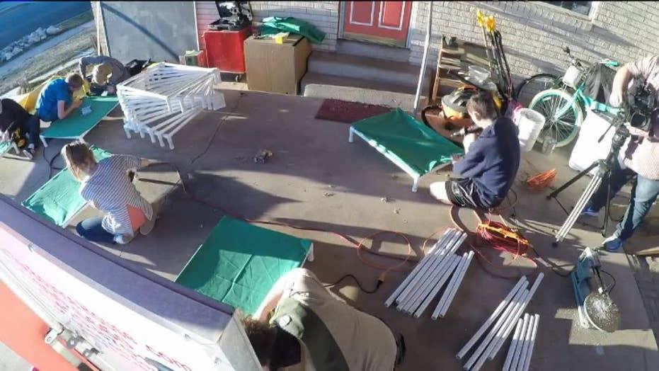 Utah boy builds 150 dog beds for animal shelter