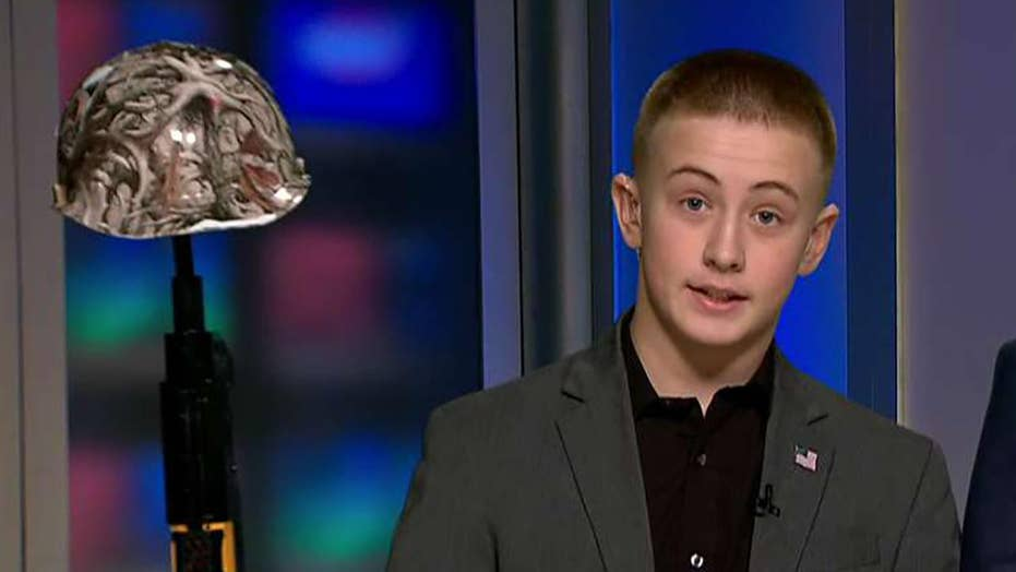 Student suspended for recreating battlefield cross speaks out