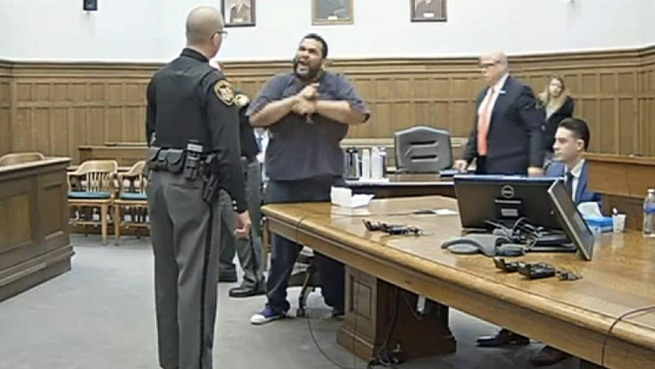 Ohio man sentenced to an additional six years behind bars for courtroom outburst