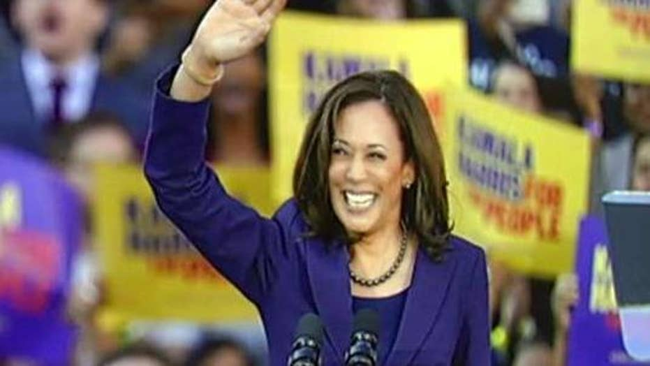 2020 Democratic presidential candidate Kamala Harris campaigns in Texas