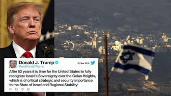 Trump supports Israeli sovereignty over Golan Heights, reversing decades-old policy