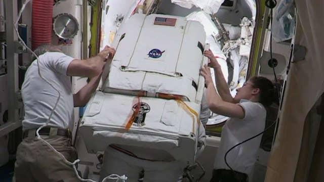 NASA coverage of the International Space Station US spacewalk thumbnail