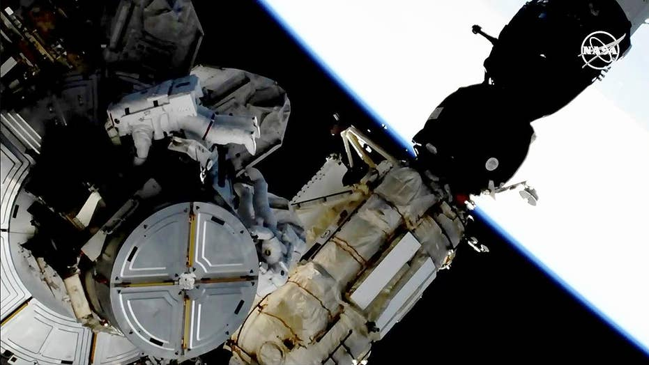 Astronauts perform spacewalk to ascent International Space Station's energy systems