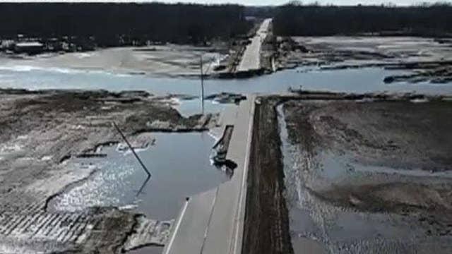 Gov. Pete Ricketts gives an update on flooding damage in Nebraska