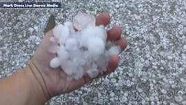 Hail pelts northern Texas 'like a snowstorm,' damaging homes and vehicles