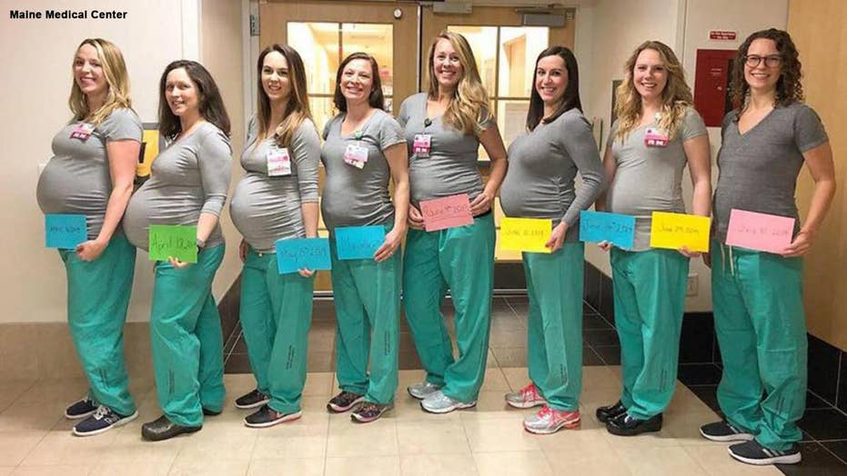 9 labor and delivery nurses at Maine hospital pregnant at the same
