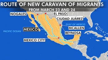 Caravan of over 1K migrants from Central American and Cuba heading towards US-Mexico border