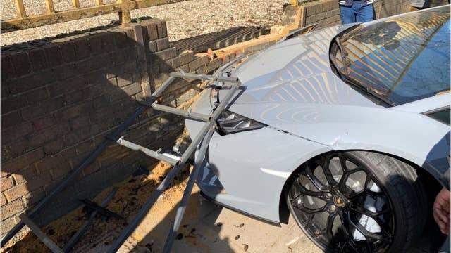 Video captures driver wrecking $280,000 Lamborghini