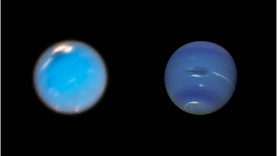 The Hubble Space Telescope captures the birth of one of Neptune's 'Great Dark Spot' storms