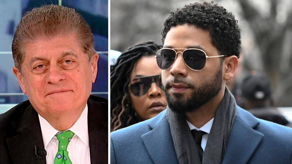 """Judge Andrew Napolitano on prosecutors dropping charges against Jussie Smollett: """"Almost unheard of"""""""