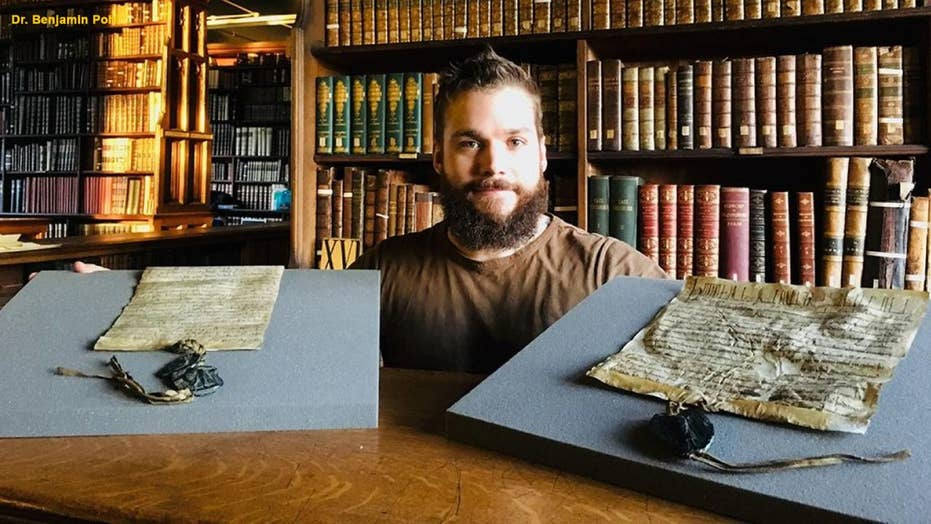Ancient royal charter discovered in a library's cardboard box
