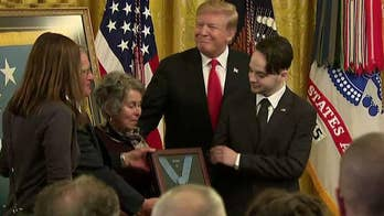 President Trump awards Medal of Honor posthumously to Army Staff Sgt. Travis Atkins