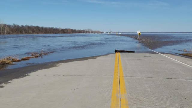 Midwest flooding captured in stunning drone footage