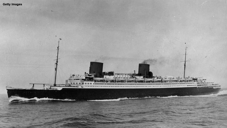 The merchant who cut down a swastika flag from a German liner in the 1930s