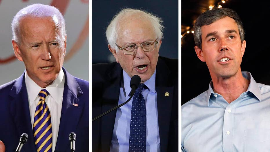 Joe Biden, Bernie Sanders and Beto O'Rourke top new poll of Democratic 2020 candidates