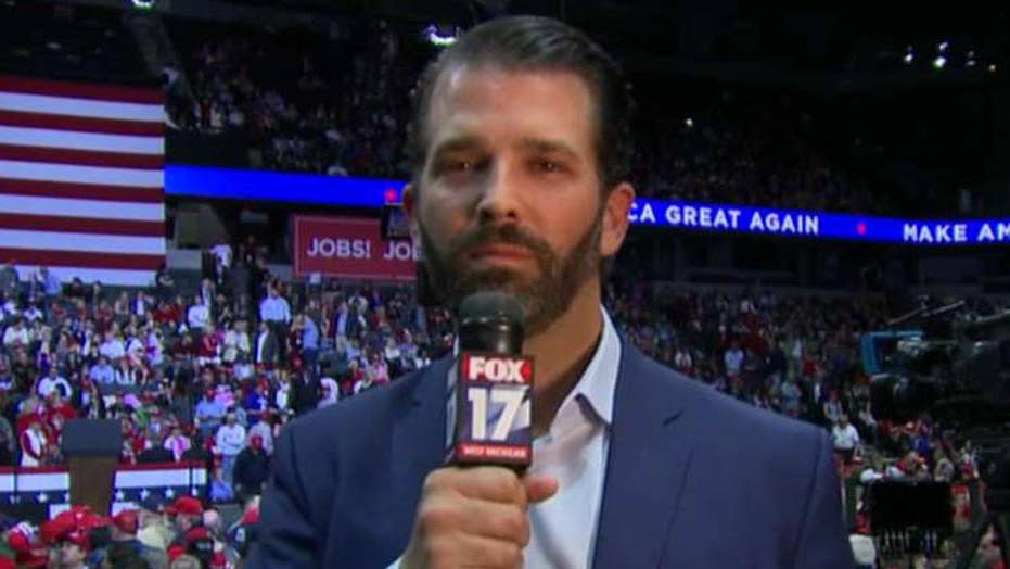 Don Jr. thanks supporters for sticking with the president through Mueller witch hunt