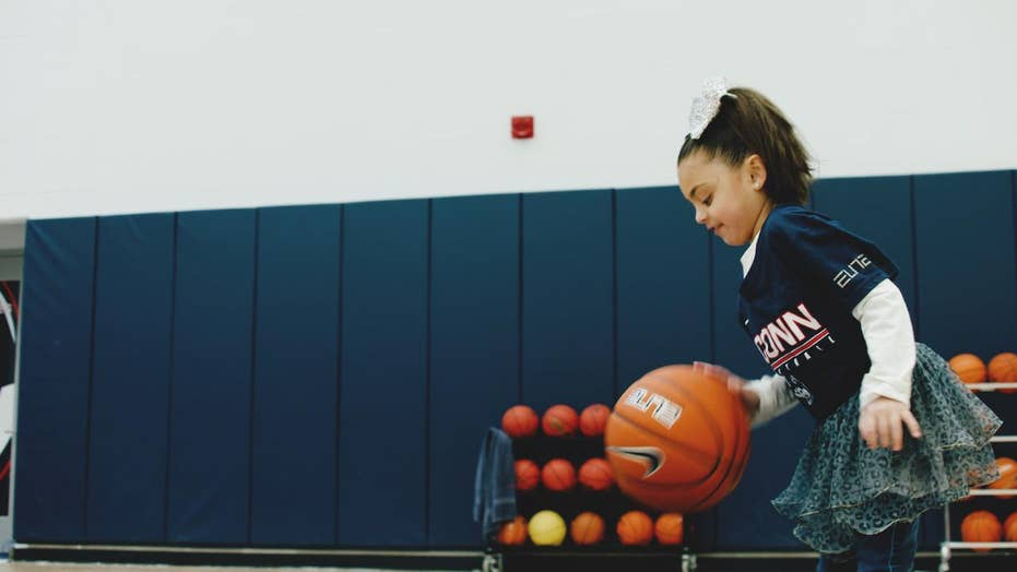 Girl battling rare genetic disorder turns to UConn Huskies for inspiration