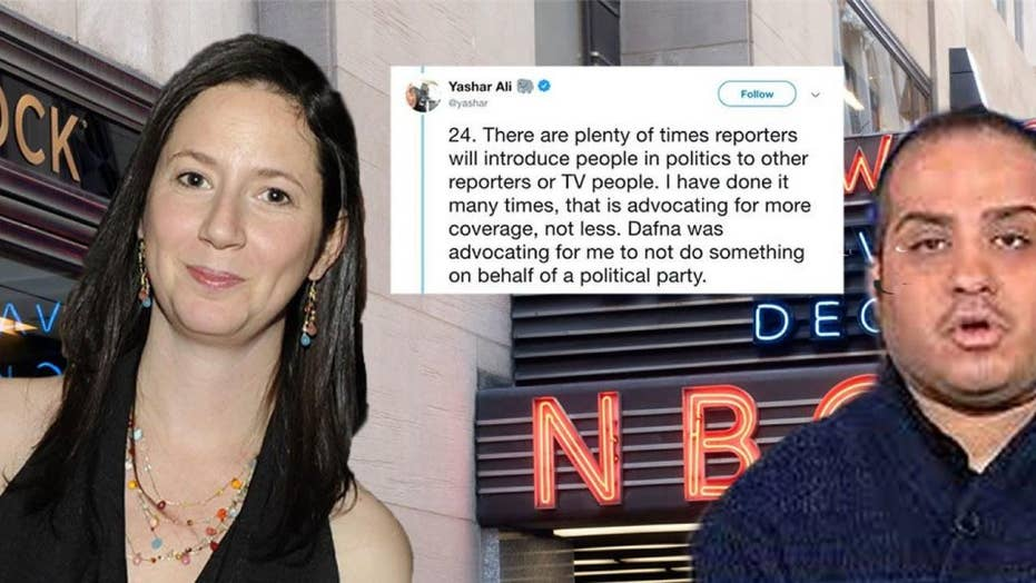 Reporter accuses MSNBC's top political editor of 'trying to intimidate' him on 'behalf of the DNC'