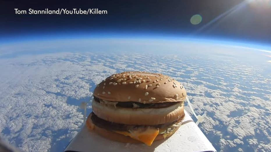 Big Mac found in England after man sends it into space