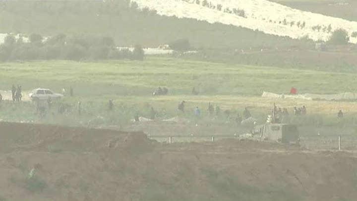 Protests unfoldat Israel-Gaza border