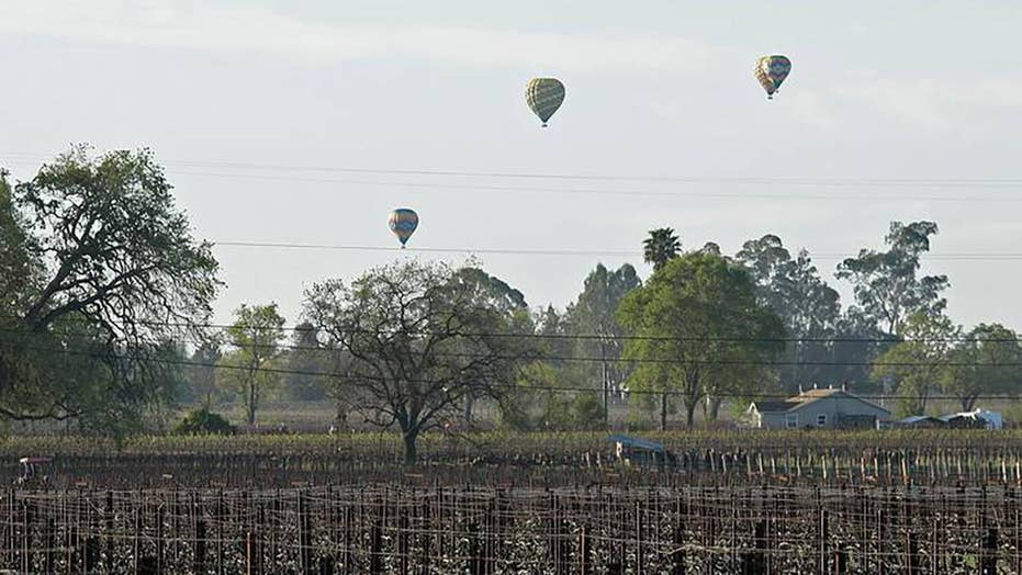 Three hospitalized after hot air balloon hits live power line in California