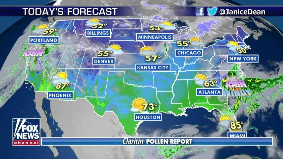 National forecast for Tuesday, April 2