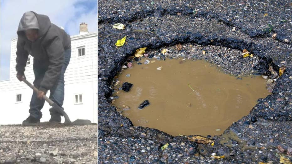 Michigan boy, 12, fills potholes himself to help his neighbors