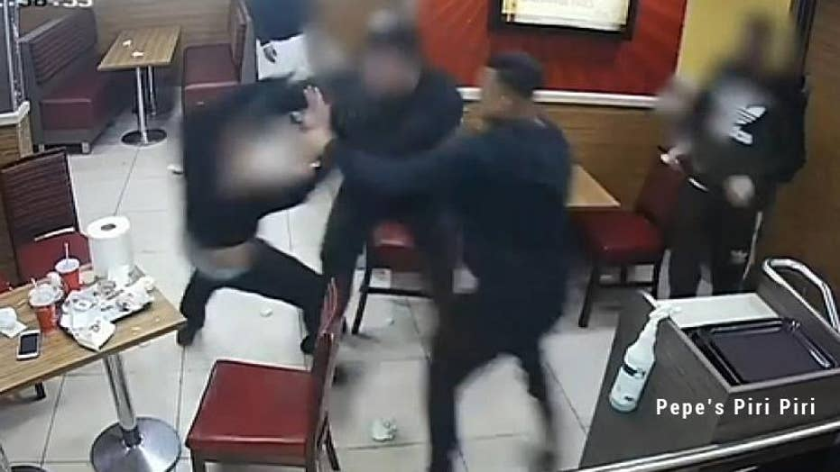 Watch: Brutal brawl caught on video at a fast food restaurant in England
