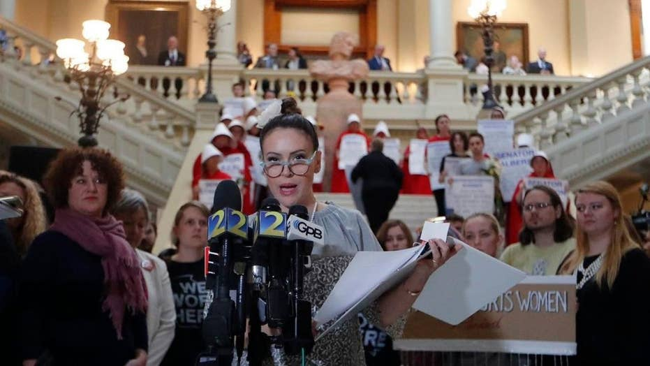 Alyssa Milano pushes against Georgia abortion ban, Georgia pushes back