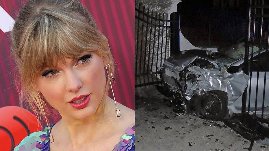 Taylor Swift's Rhode Island home damaged after car being chased by police crashes into gate