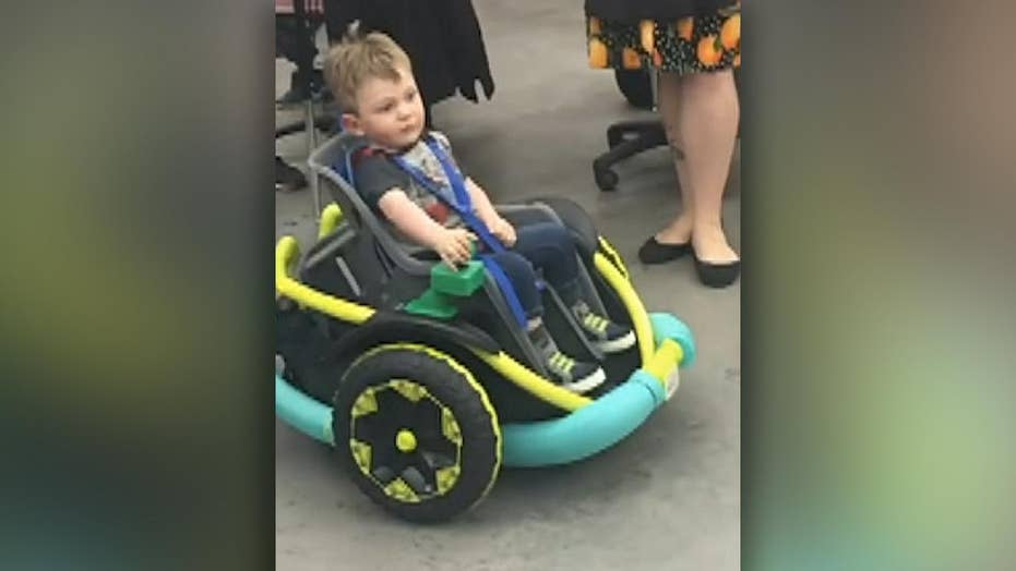 High school students build electronic wheelchair for 2-year-old