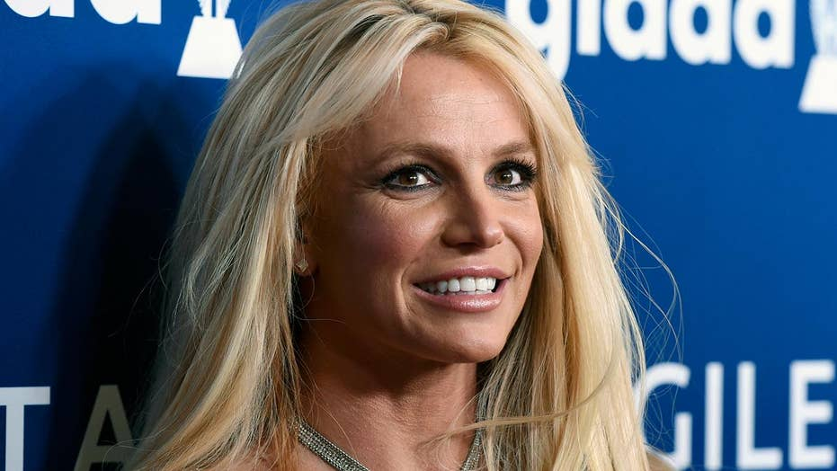 Britney Spears  - 2019 Light blond hair & beachy hair style.
