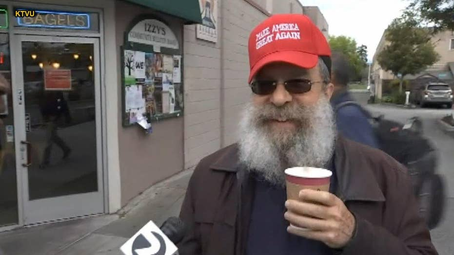 4fed755f212 Man wearing  MAGA  hat says woman berated him at California ...