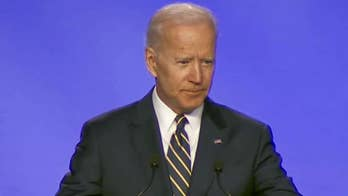 Joe Biden makes hugging joke at first public appearance since allegations of inappropriate conduct